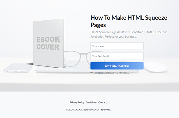 Beautiful HTML Squeeze Page Volume 3