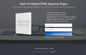 Beautiful HTML Squeeze Page Volume 11