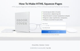 Beautiful HTML Squeeze Page Volume 12