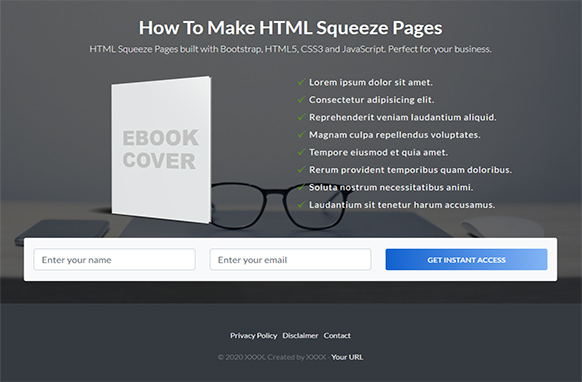 Beautiful HTML Squeeze Page Volume 14