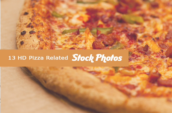 13 HD Pizza Related Stock Images