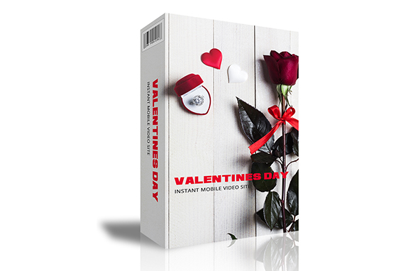 Valentines Day Instant Mobile Video Site