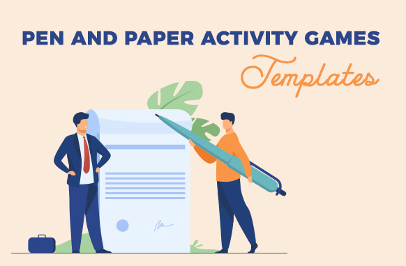 Pen and Paper Activity Games Templates