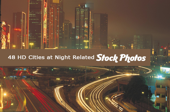 48 HD Cities at Night Related Stock Images