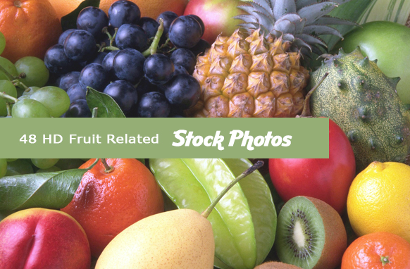 10 HD Fruit Related Stock Images