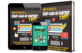 How To Create a Crap-Load Of Content Fast AudioBook and Ebook