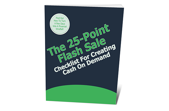 The 25-Point Flash Sale Checklist For Creating Cash On Demand